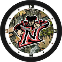 Cal State Northridge Matadors Camo Wall Clock
