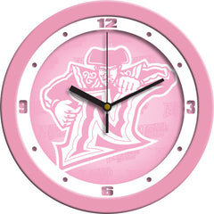 Cal State Northridge Matadors Pink Wall Clock