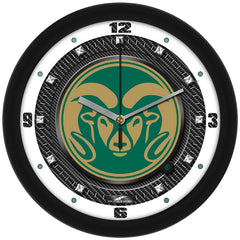 Colorado State Rams Carbon Fiber Wall Clock