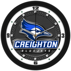Creighton Bluejays Carbon Fiber Wall Clock