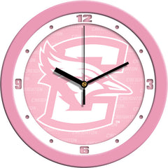 Creighton Bluejays Pink Wall Clock