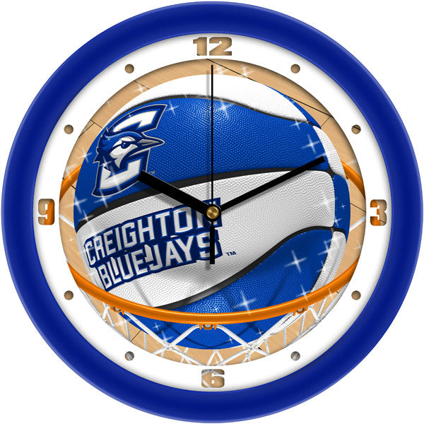 Creighton Bluejays Slam Dunk Wall Clock
