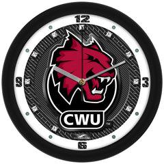Central Washington Wildcats Carbon Fiber Wall Clock