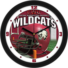 Central Washington Wildcats Football Helmet Wall Clock