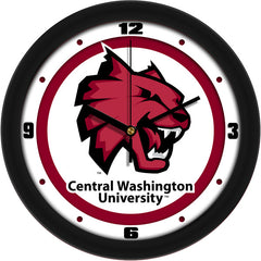 Central Washington Wildcats Traditional Wall Clock