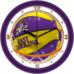 East Carolina Pirates Slam Dunk Wall Clock