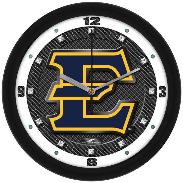 East Tennessee State Buccaneers Carbon Fiber Wall Clock