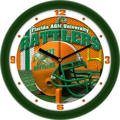 Florida A&M Rattlers Football Helmet Wall Clock