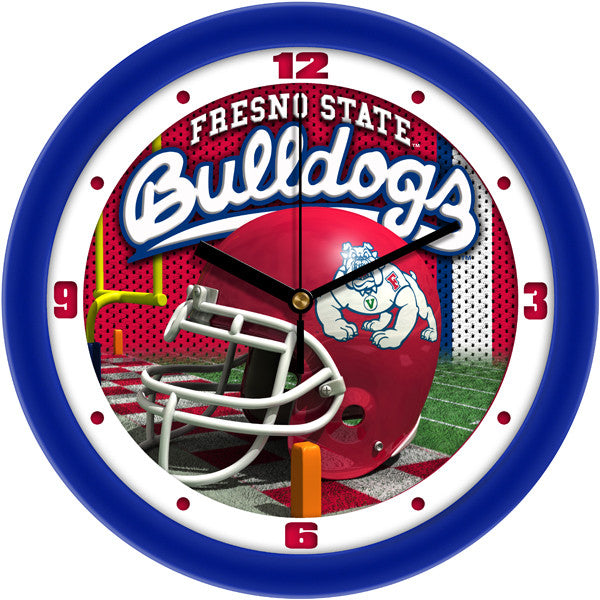 Fresno State Bulldogs Football Helmet Wall Clock