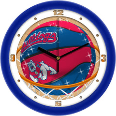 Fresno State Bulldogs Slam Dunk Wall Clock
