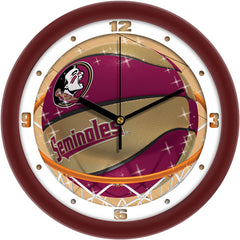Florida State Seminoles Slam Dunk Wall Clock