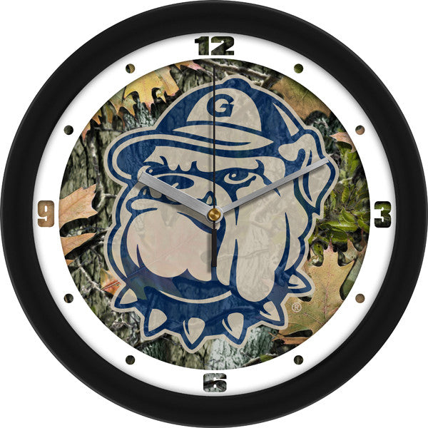 Georgetown Hoyas Carbon Fiber Wall Clock