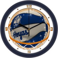 Georgetown Hoyas Slam Dunk Wall Clock