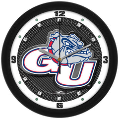 Gonzaga Bulldogs Carbon Fiber Wall Clock