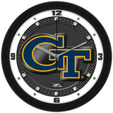 Georgia Tech Yellow Jackets Carbon Fiber Wall Clock