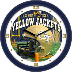 Georgia Tech Yellow Jackets Football Helmet Wall Clock