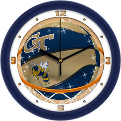 Georgia Tech Yellow Jackets Slam Dunk Wall Clock