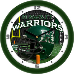 Hawaii Warriors Football Helmet Wall Clock