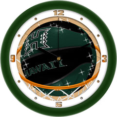 Hawaii Warriors Slam Dunk Wall Clock