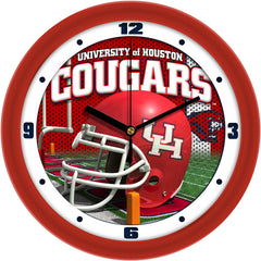 Houston Cougars Football Helmet Wall Clock