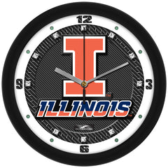 Illinois Fighting Illini Carbon Fiber Wall Clock