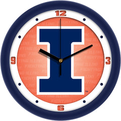 Illinois Fighting Illini Dimension Wall Clock