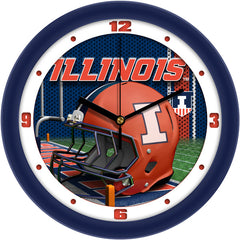 Illinois Fighting Illini Football Helmet Wall Clock