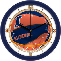 Illinois Fighting Illini Slam Dunk Wall Clock