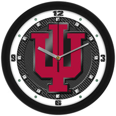 Indiana Hoosiers Carbon Fiber Wall Clock