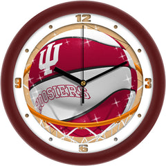 Indiana Hoosiers Slam Dunk Wall Clock