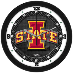 Iowa State Cyclones Carbon Fiber Wall Clock
