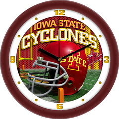 Iowa State Cyclones Football Helmet Wall Clock