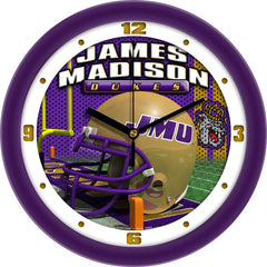 James Madison Dukes Football Helmet Wall Clock