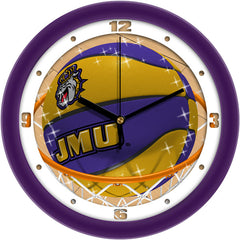 James Madison Dukes Slam Dunk Wall Clock