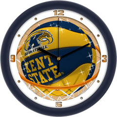 Kent State Golden Flashes Slam Dunk Wall Clock