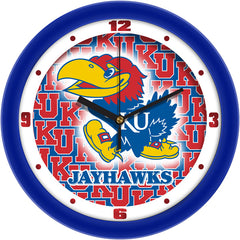 Kansas Jayhawks Dimension Wall Clock