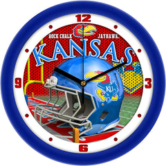 Kansas Jayhawks Football Helmet Wall Clock