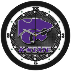 Kansas State Wildcats Carbon Fiber Wall Clock