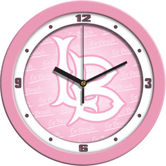 Long Beach State 49ers Pink Wall Clock