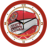 Louisiana Lafayette Ragin Cajuns Slam Dunk Wall Clock