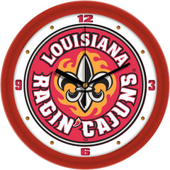 Louisiana Lafayette Ragin Cajuns Traditional Wall Clock