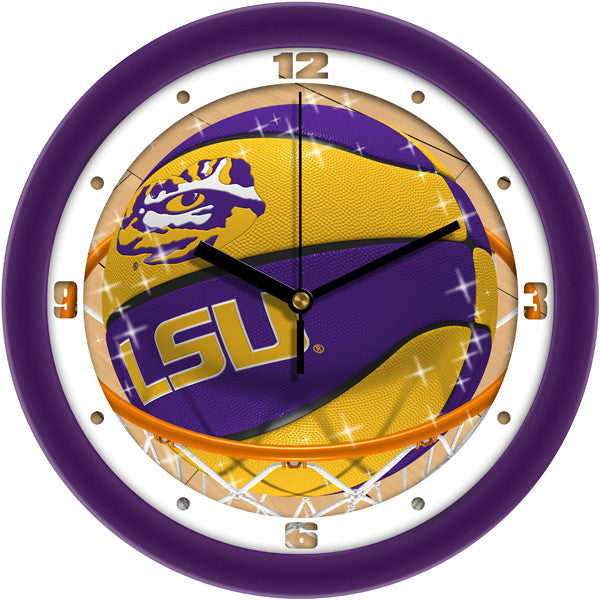 LSU Tigers Slam Dunk Wall Clock
