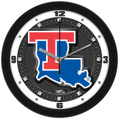 Louisiana Tech Bulldogs Carbon Fiber Wall Clock