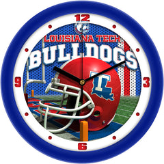 Louisiana Tech Bulldogs Football Helmet Wall Clock