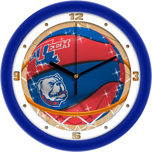 Louisiana Tech Bulldogs Slam Dunk Wall Clock