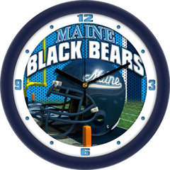 Maine Black Bears Football Helmet Wall Clock
