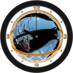 Maine Black Bears Slam Dunk Wall Clock