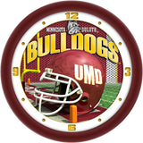 Minnesota Duluth Bulldogs Football Helmet Wall Clock