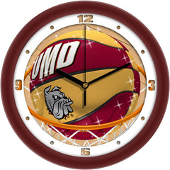 Minnesota Duluth Bulldogs Slam Dunk Wall Clock