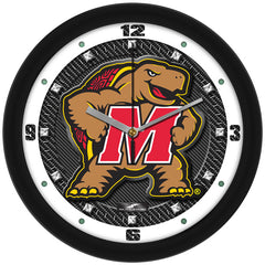 Maryland Terrapins Carbon Fiber Wall Clock